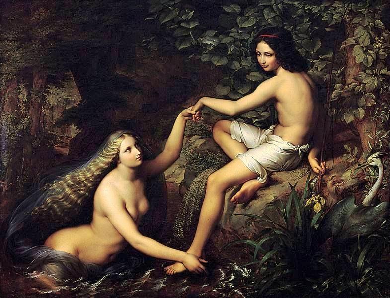 1828 Der Fischerknabe und die Nixe | JULIUS HÜBNER