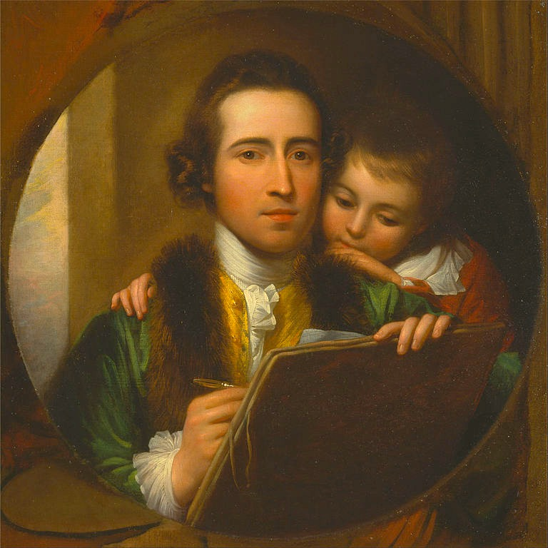 BenjaminWest-TheartistandhissonRaphael(1773)