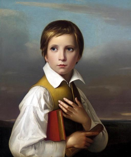 Fr.W.vonSchadow.portrait-of-felix-schadow-stepbrother-of-the-artist