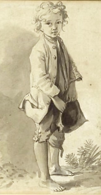 Jeune Garcon Pieds Nus attributed To Nicolas Bernard Lepicie