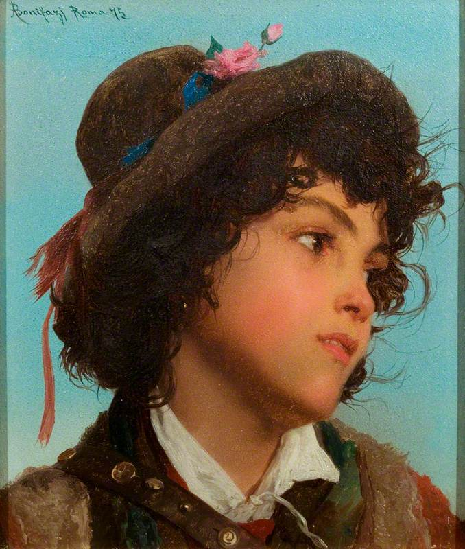 Bonifazi, Adriano; Head of an Italian Boy; Paintings Collection; http://www.artuk.org/artworks/head-of-an-italian-boy-32271
